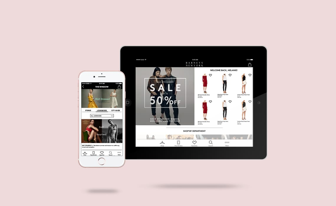 Barneys New York Mobile and Tablet Application