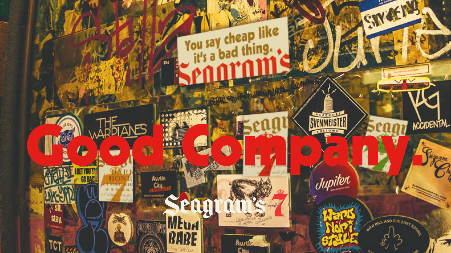 """Seagram's 7 """"Good Company"""" Relaunch Campaign"""