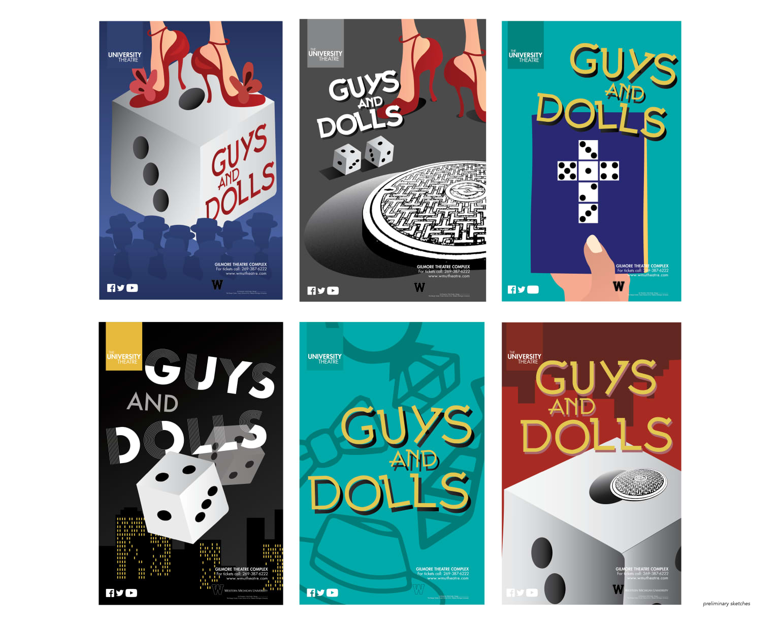 Guys and Dolls – Theatre Poster