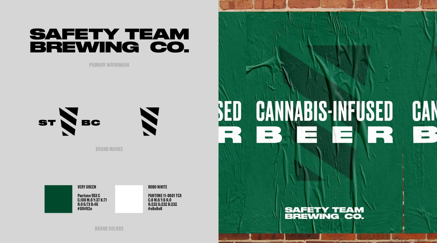 Safety Team Brewing Co. Identity and Branding