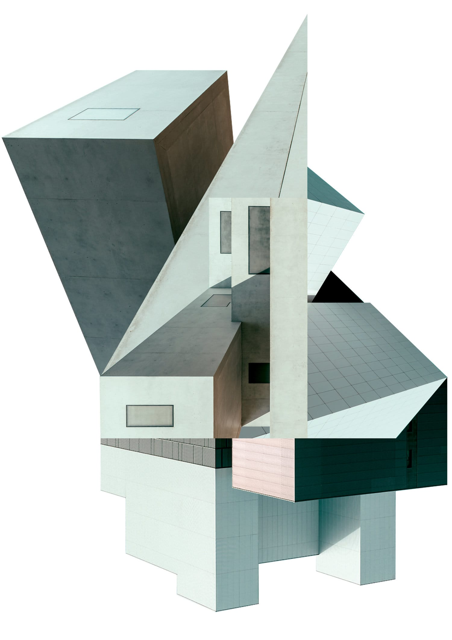 Brutalist Architectural Collages