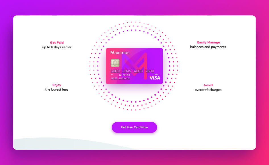 Maximus - Debit Card Site