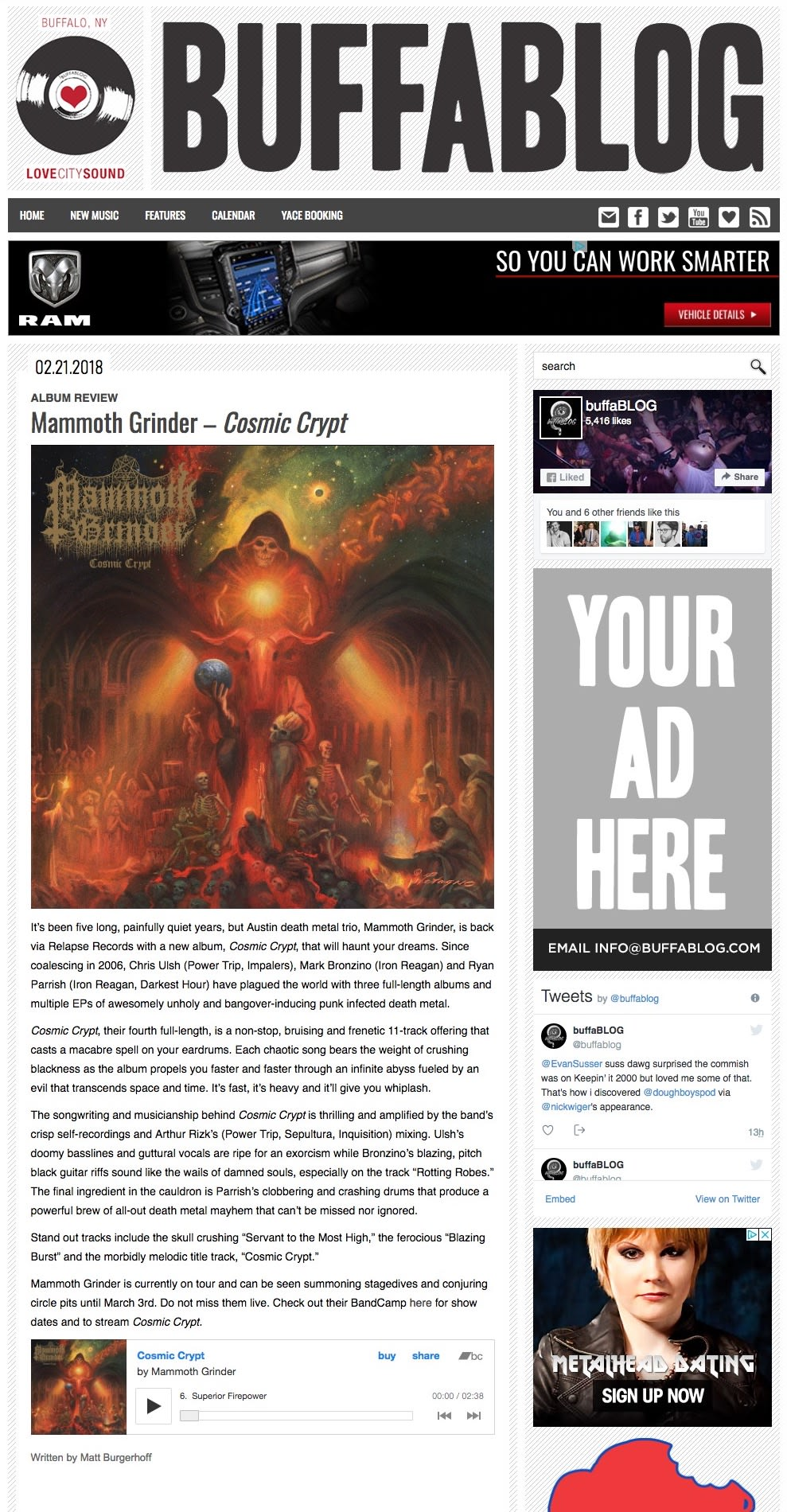 Mammoth Grinder - Album Review