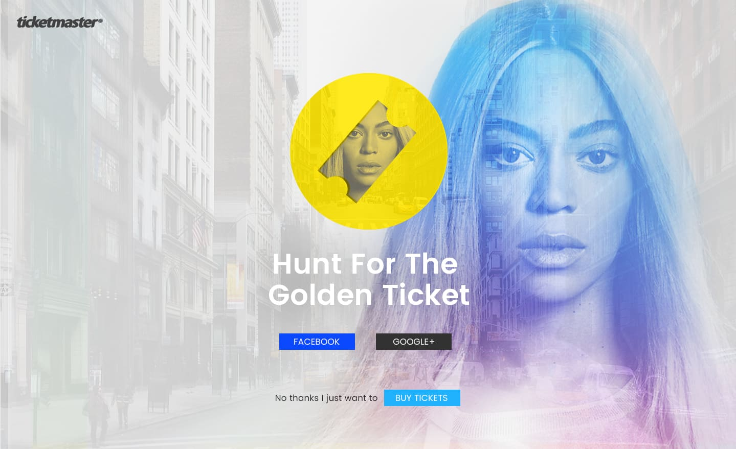 Ticketmaster: Hunt for the Golden Ticket