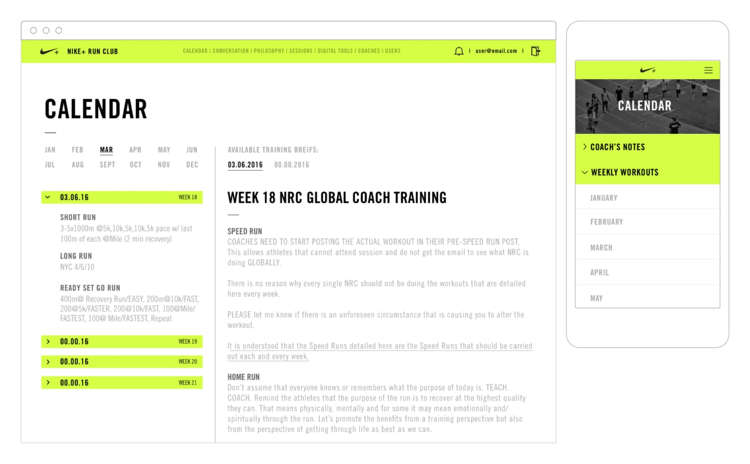 Nike Run Club Coaches Network