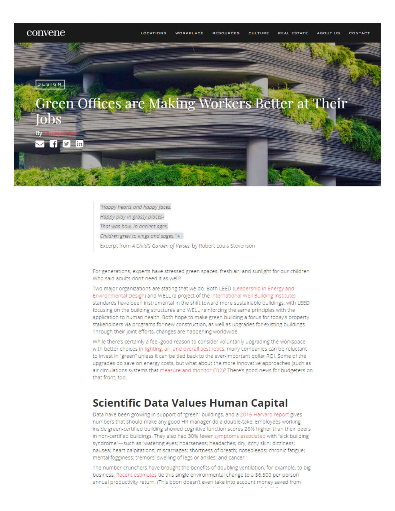 Convene Catalyst Green Offices Article