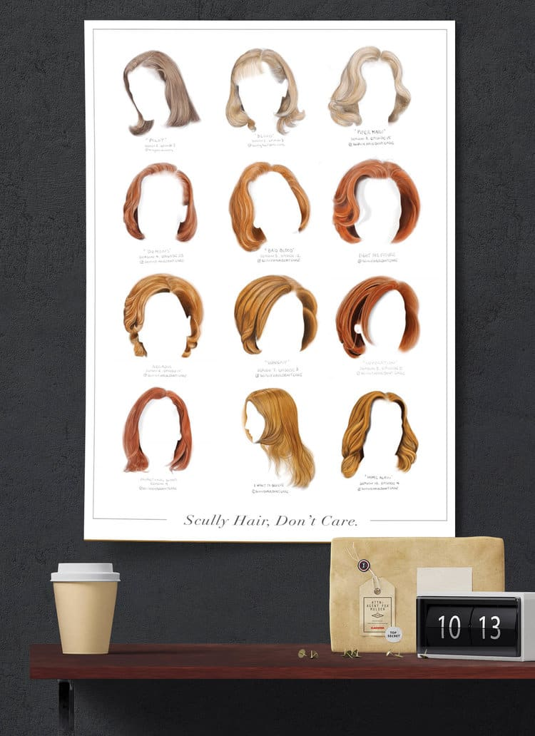 Scully Hair Don't Care - Illustrations