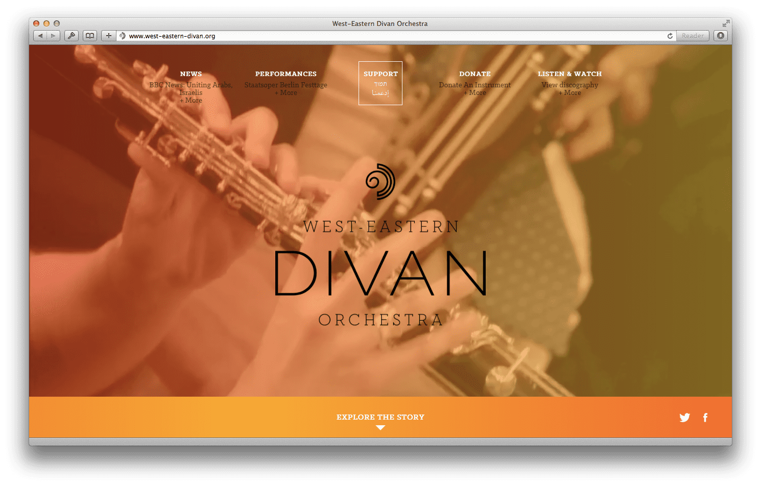 West-Eastern Divan Orchestra Brand and Website