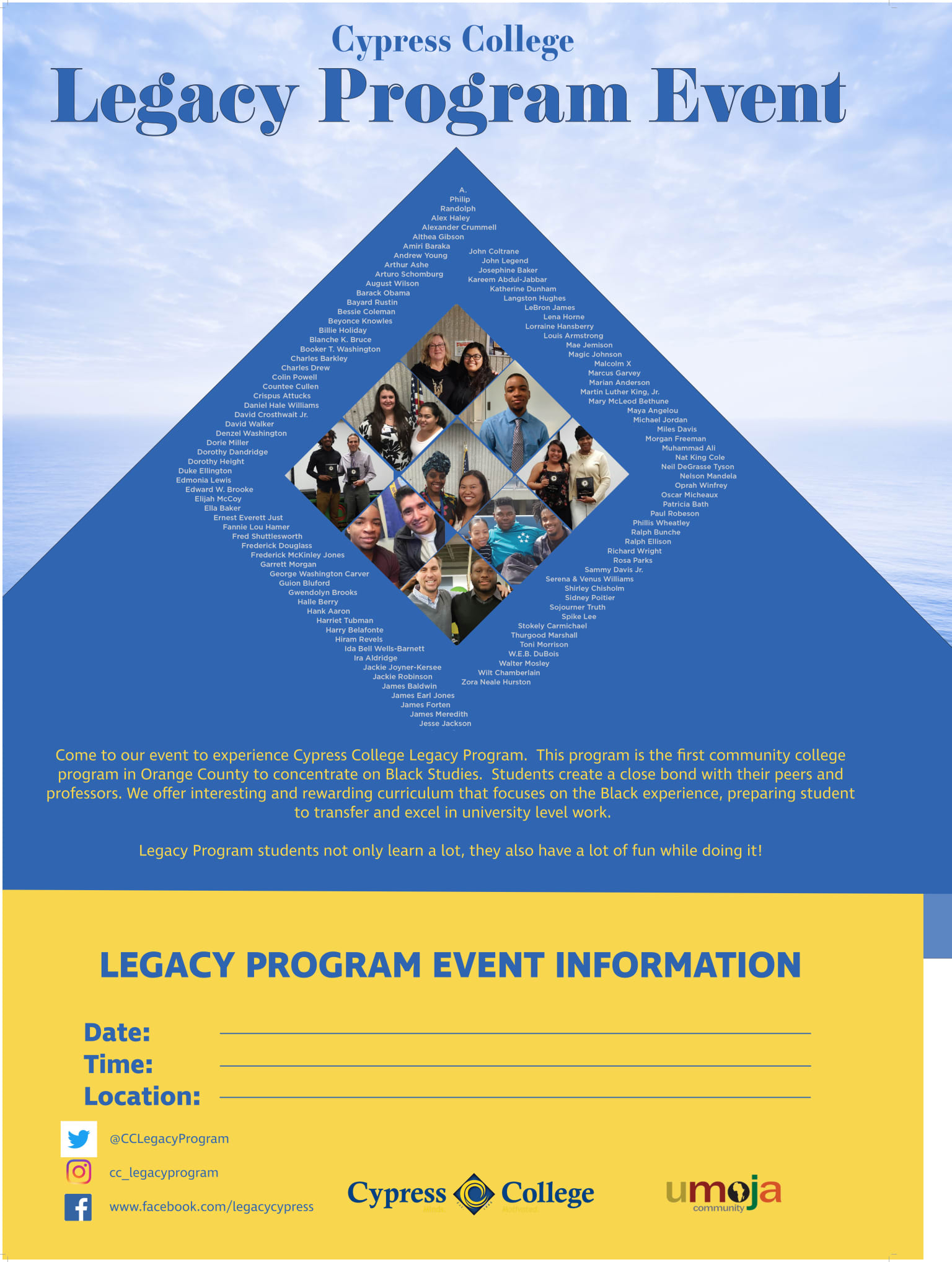 Marketing Materials for Legacy Program at Cypress College