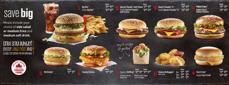 McD's Digital Menu Boards