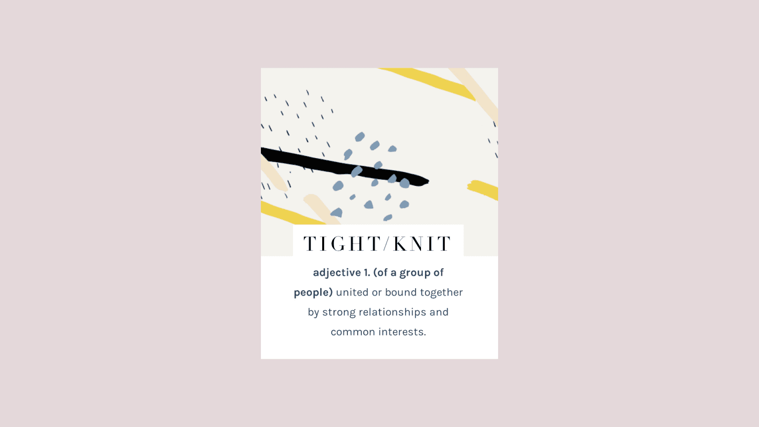 Tight Knit Branding + Lifestyle Blog Design