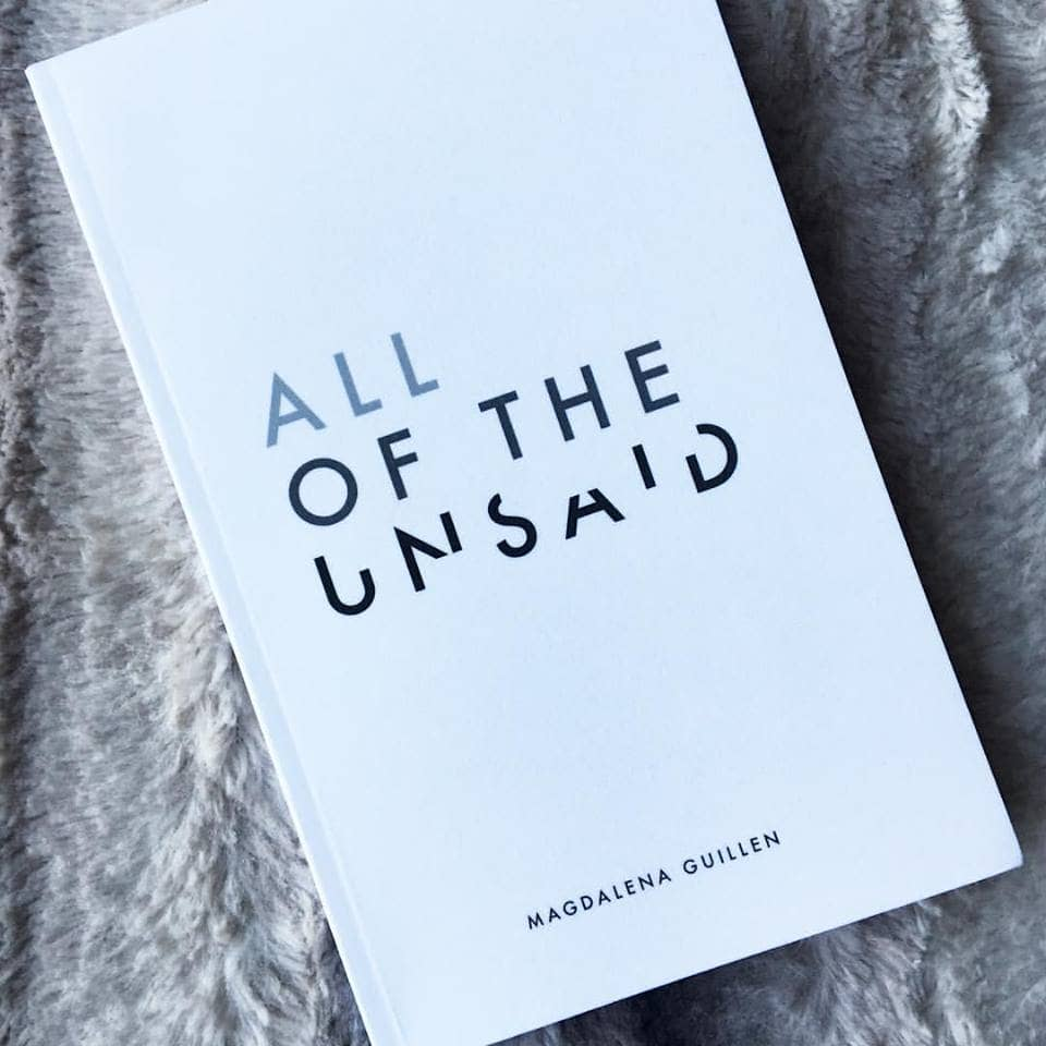 """""""All of the Unsaid"""" book cover"""