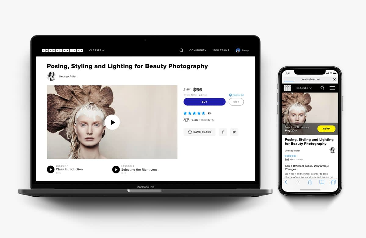 CreativeLive Class Page