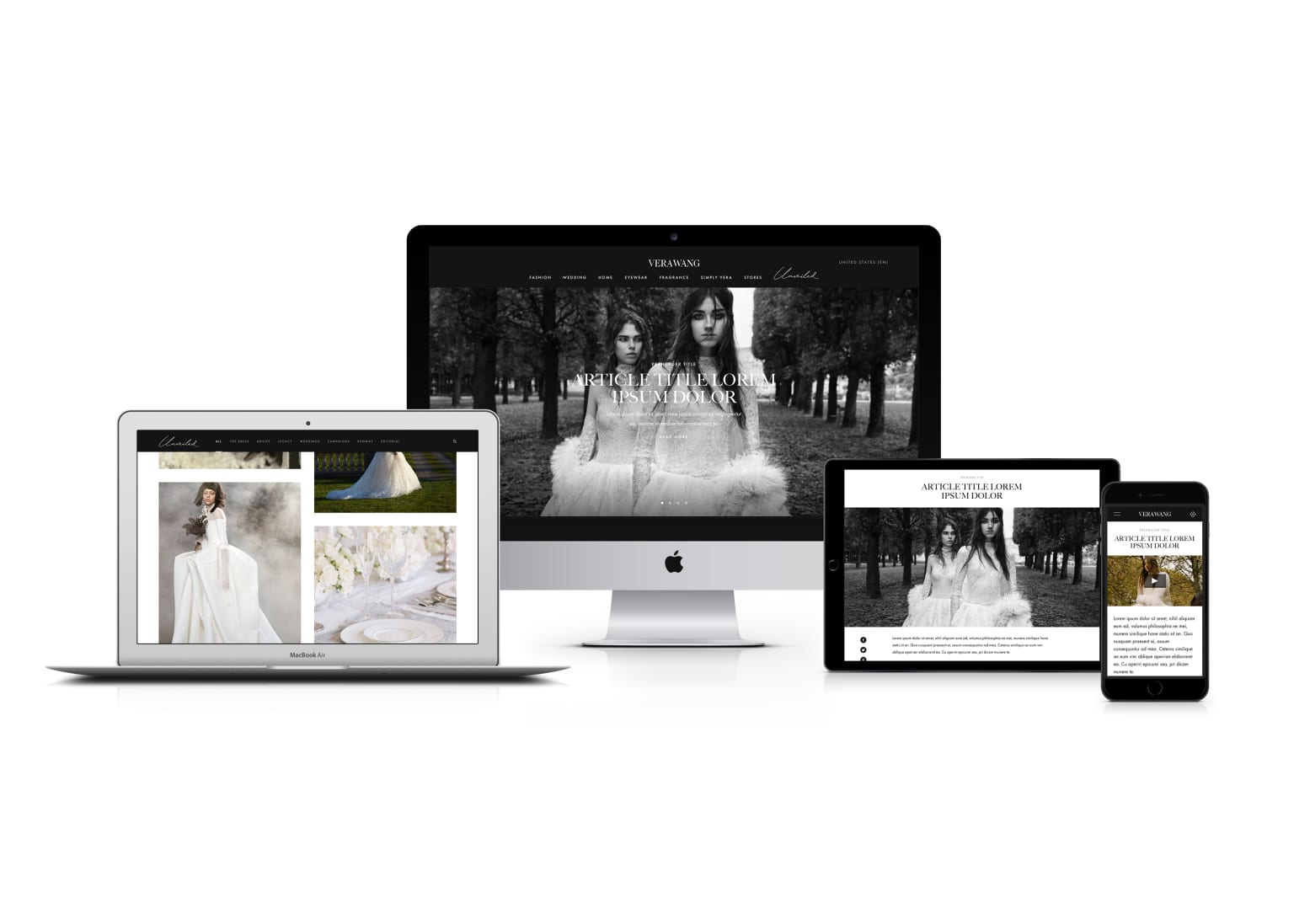 Vera Wang Bridal Blog Design