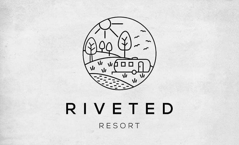 Riveted Resort - Company Logo and branding