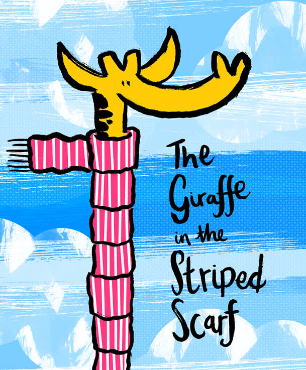 The Giraffe In The Striped Scarf