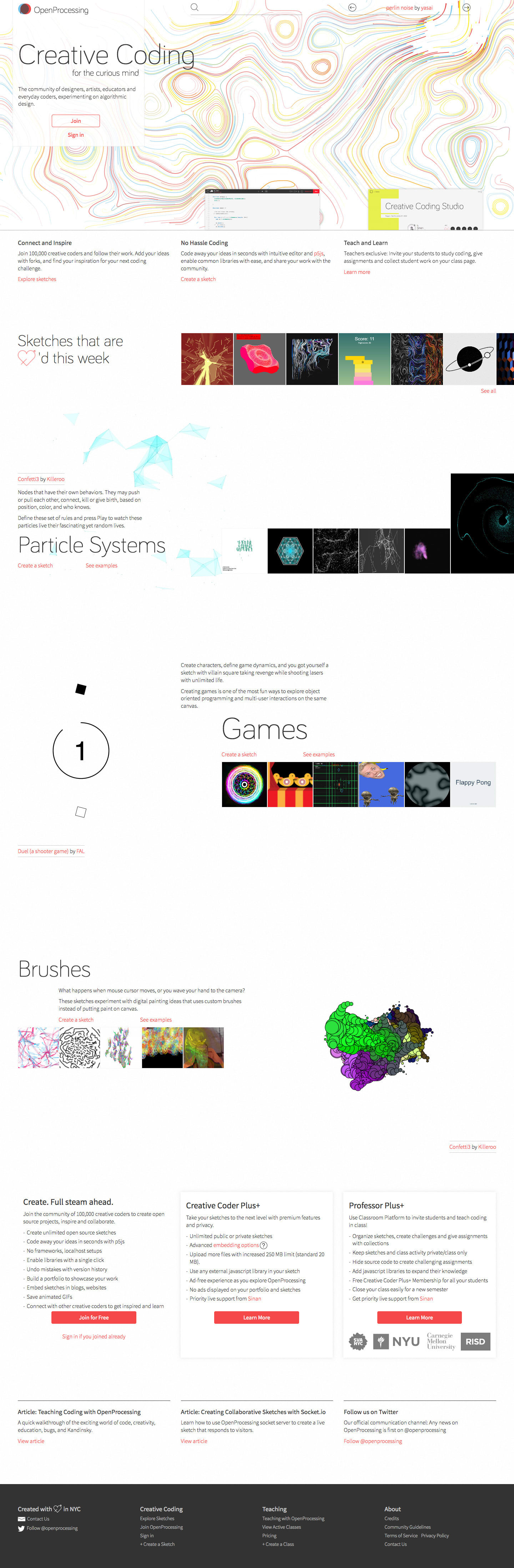OpenProcessing - A Social Creative Coding Website for Everyday Coders