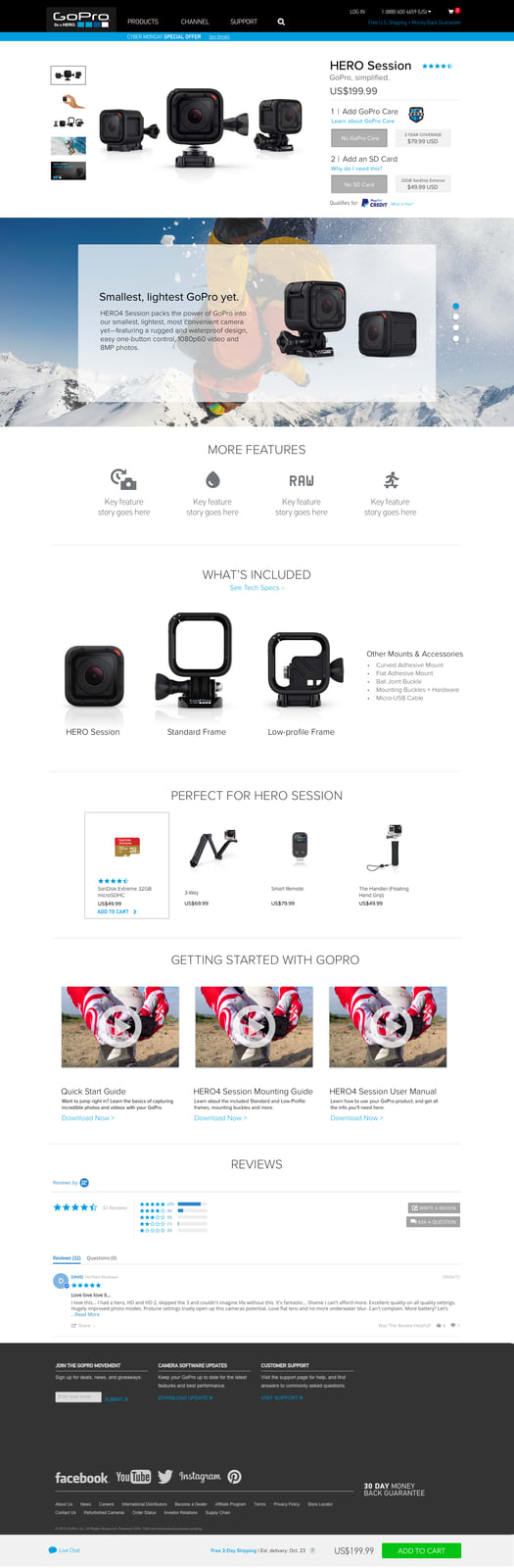 GoPro | Product Page Redesign