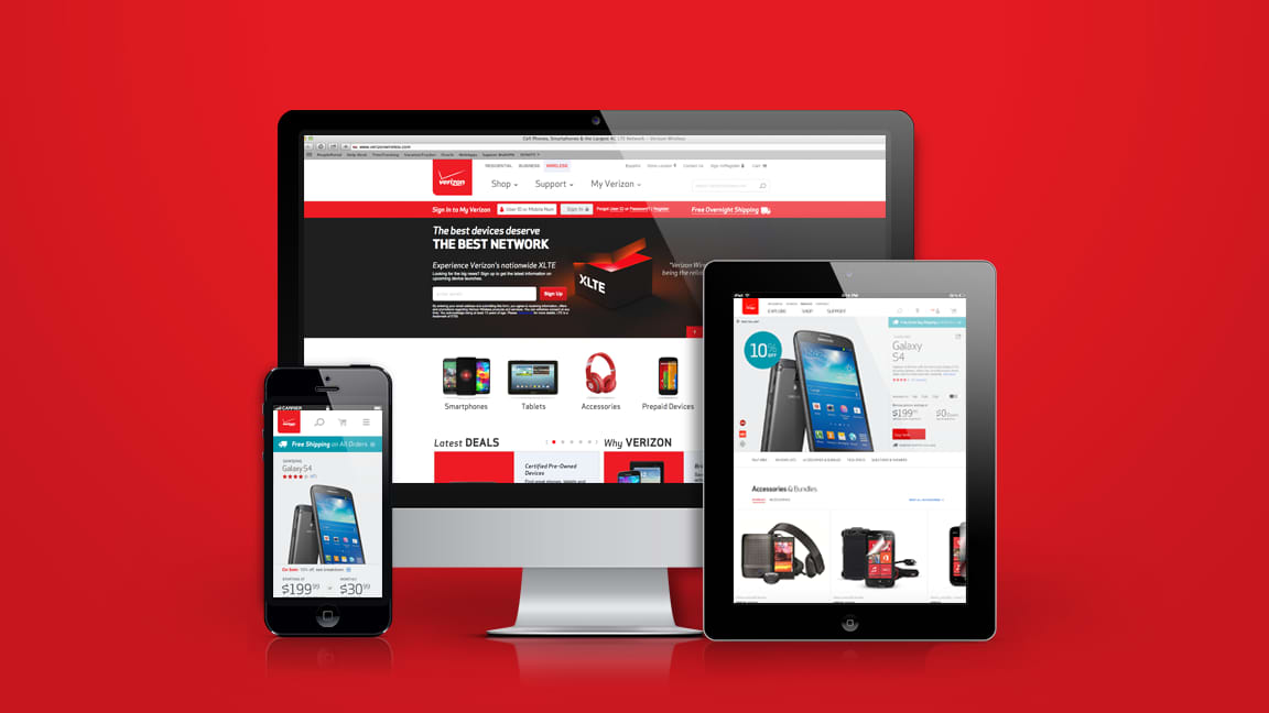 Verizon.com 2013 Redesign