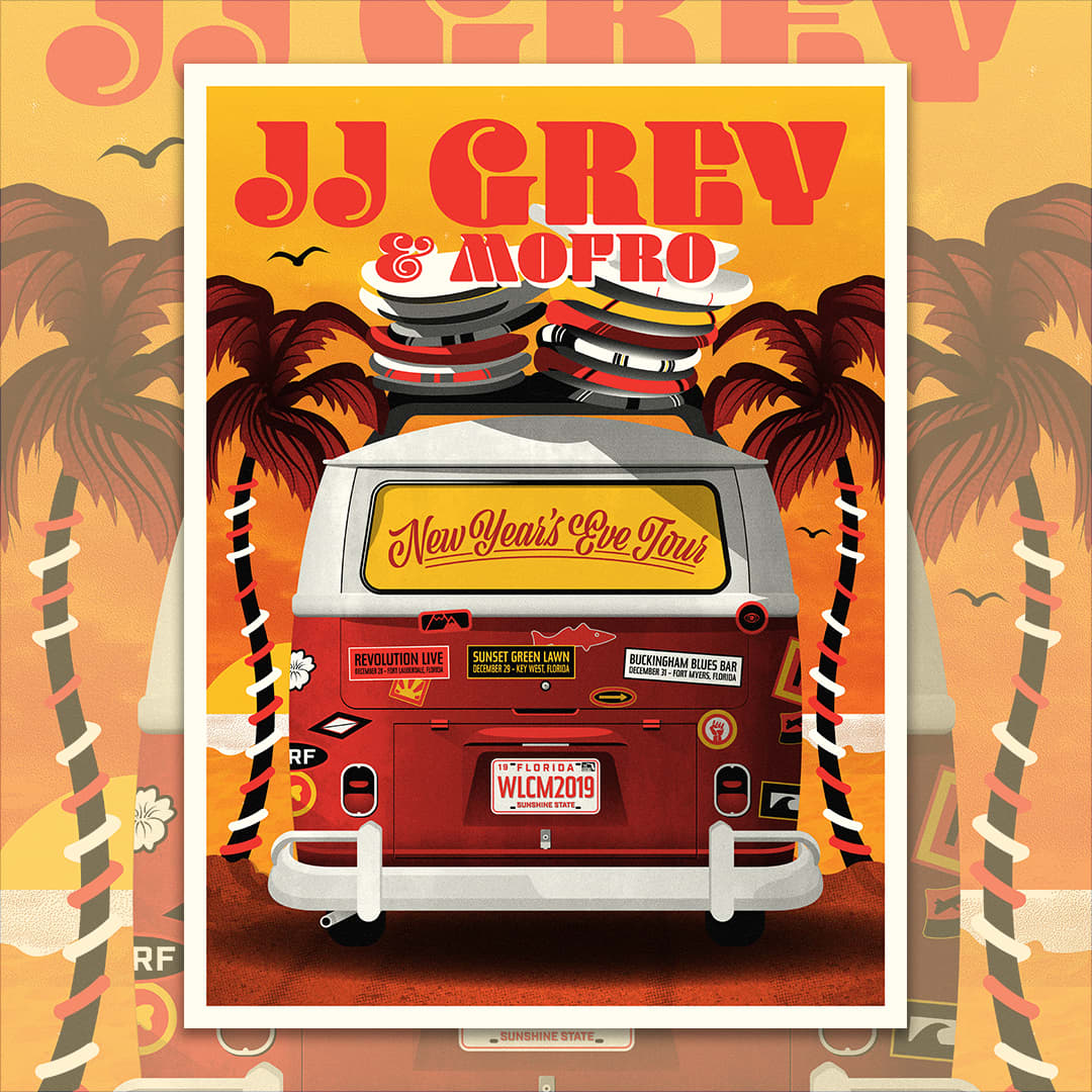JJ GREY & MOFRO 2019 New Year's Poster