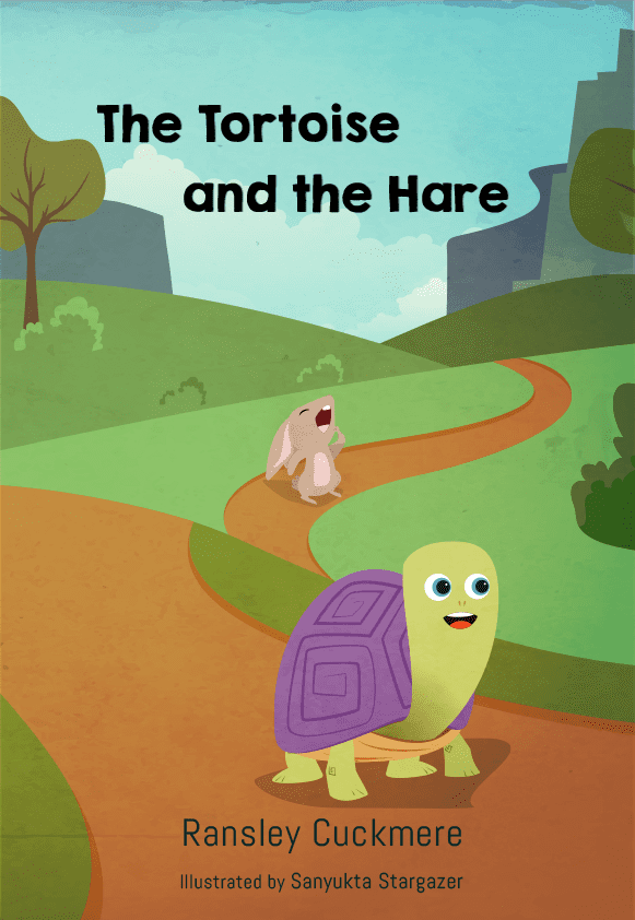 """""""The Tortoise and the Hare"""" book Illustration"""