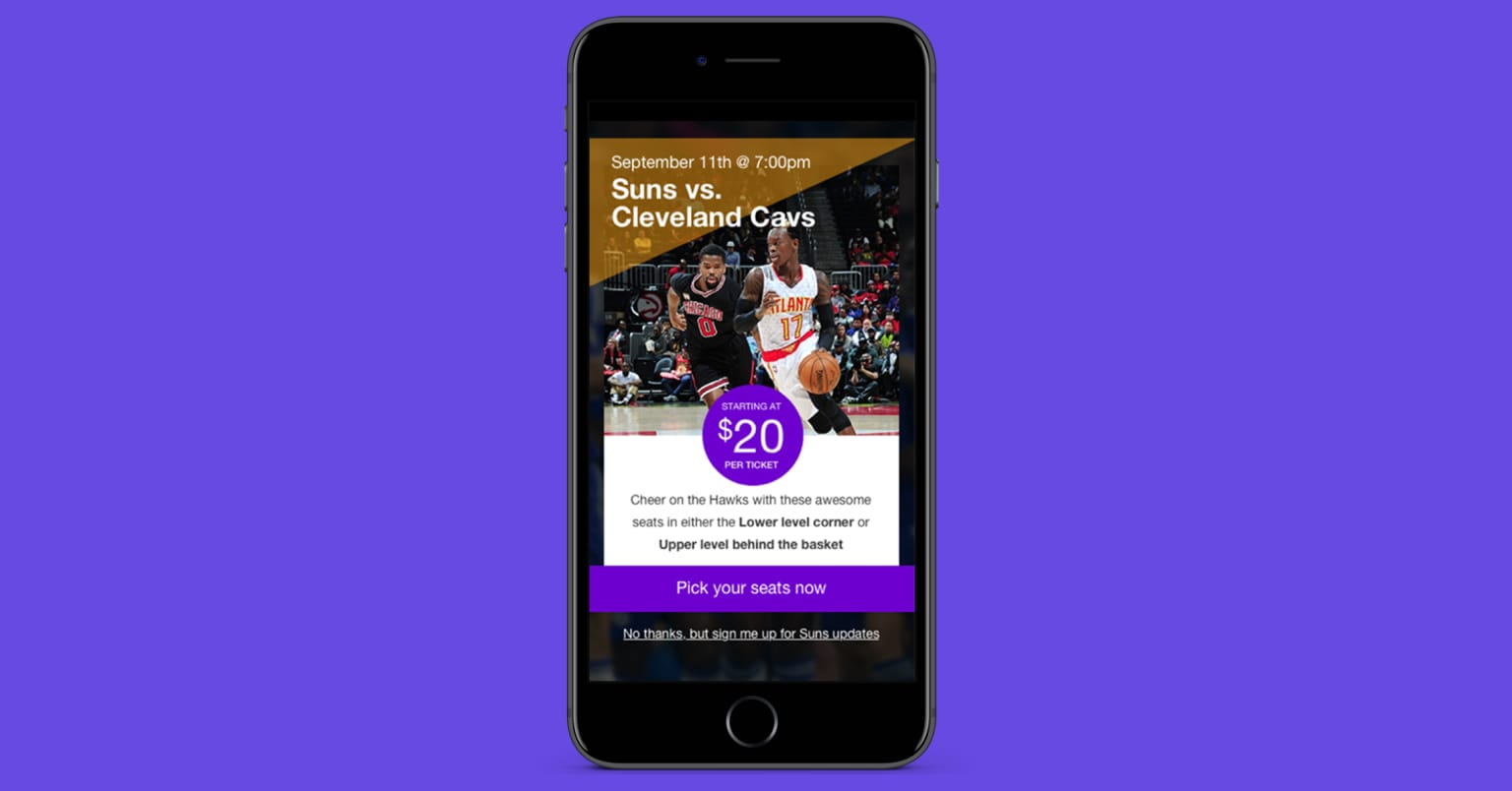 eComm & ticketing configurable mobile web application redesign