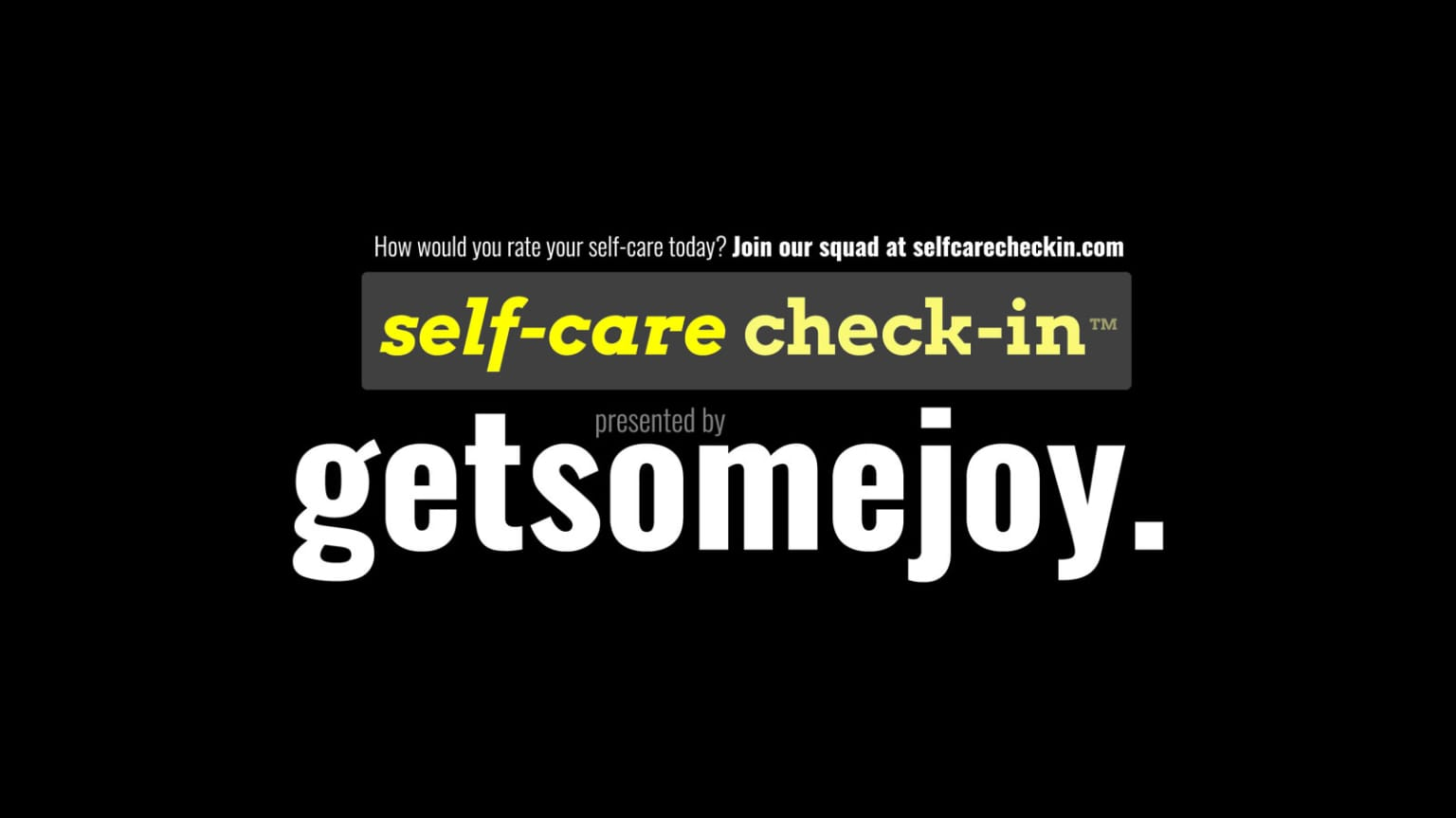 Website, Branding & Technology Strategy for #SELFCARECHECKIN Content Campaign