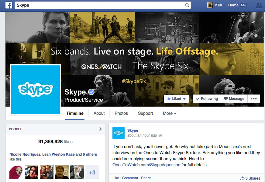 """The Skype Six"" tour promotion"