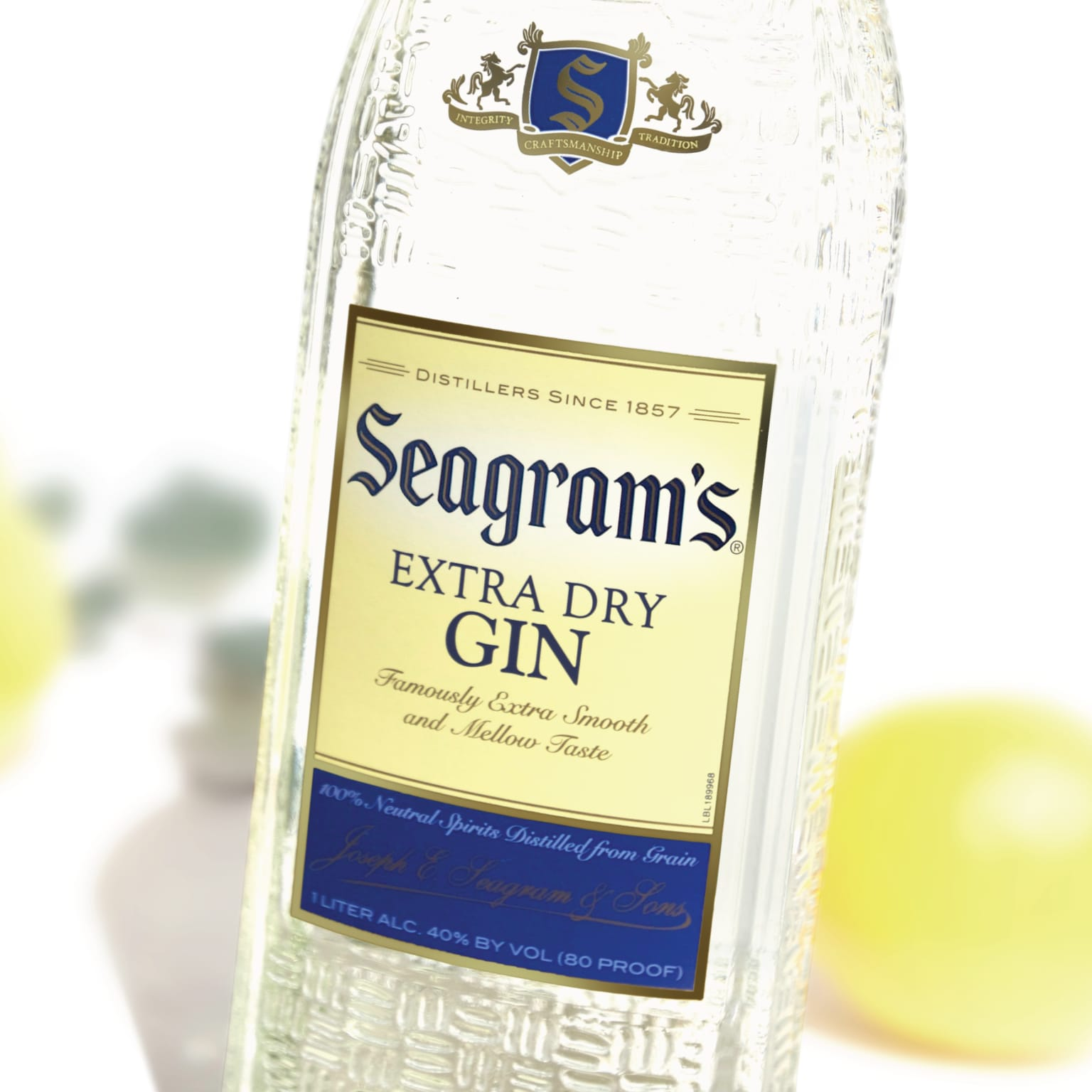 Seagram's Extra Dry Gin Logo and Package Design