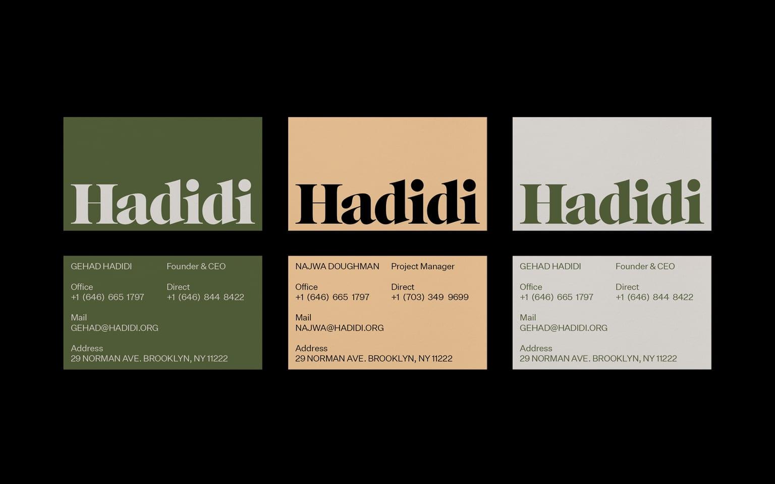 Hadidi Brand ID