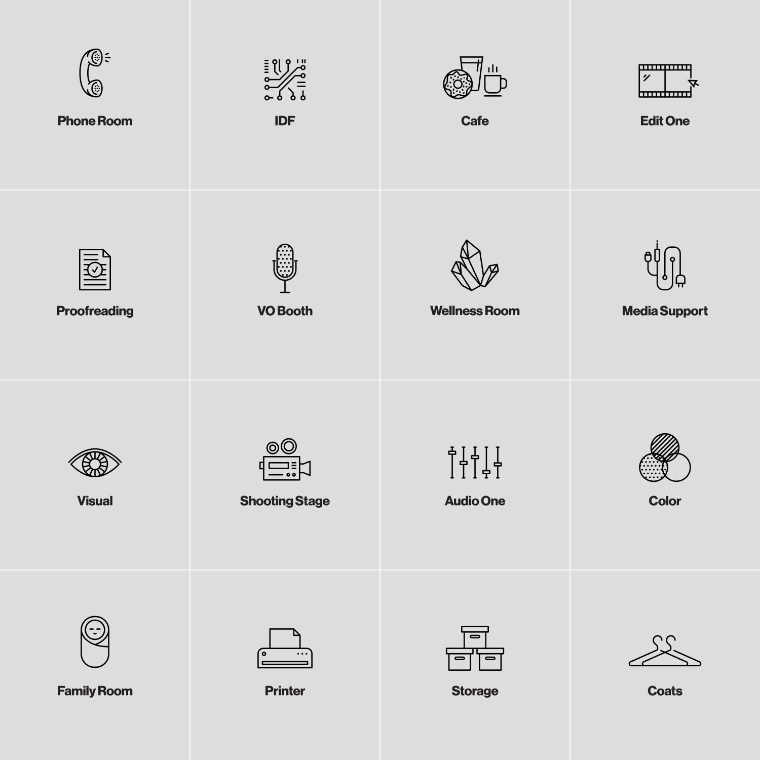Icons system for Studio 225