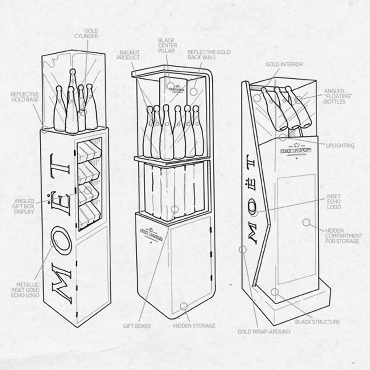 Retail Concept Sketches