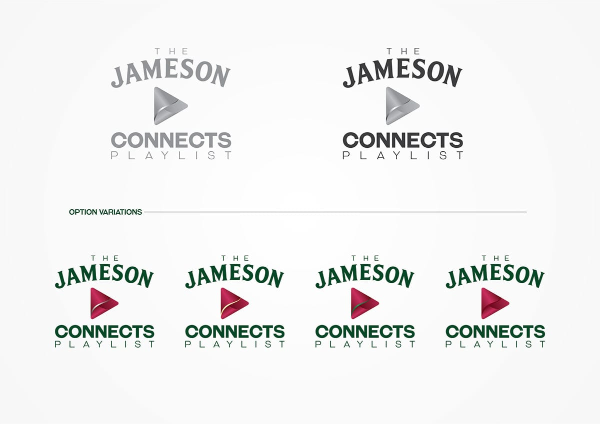 Key visuals for Jameson Connects playlist