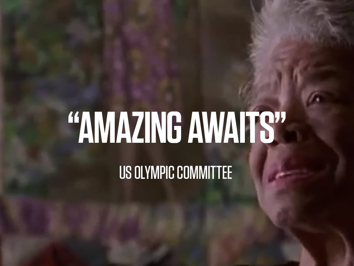 Dr. Maya Angelou, US Olympic Committee