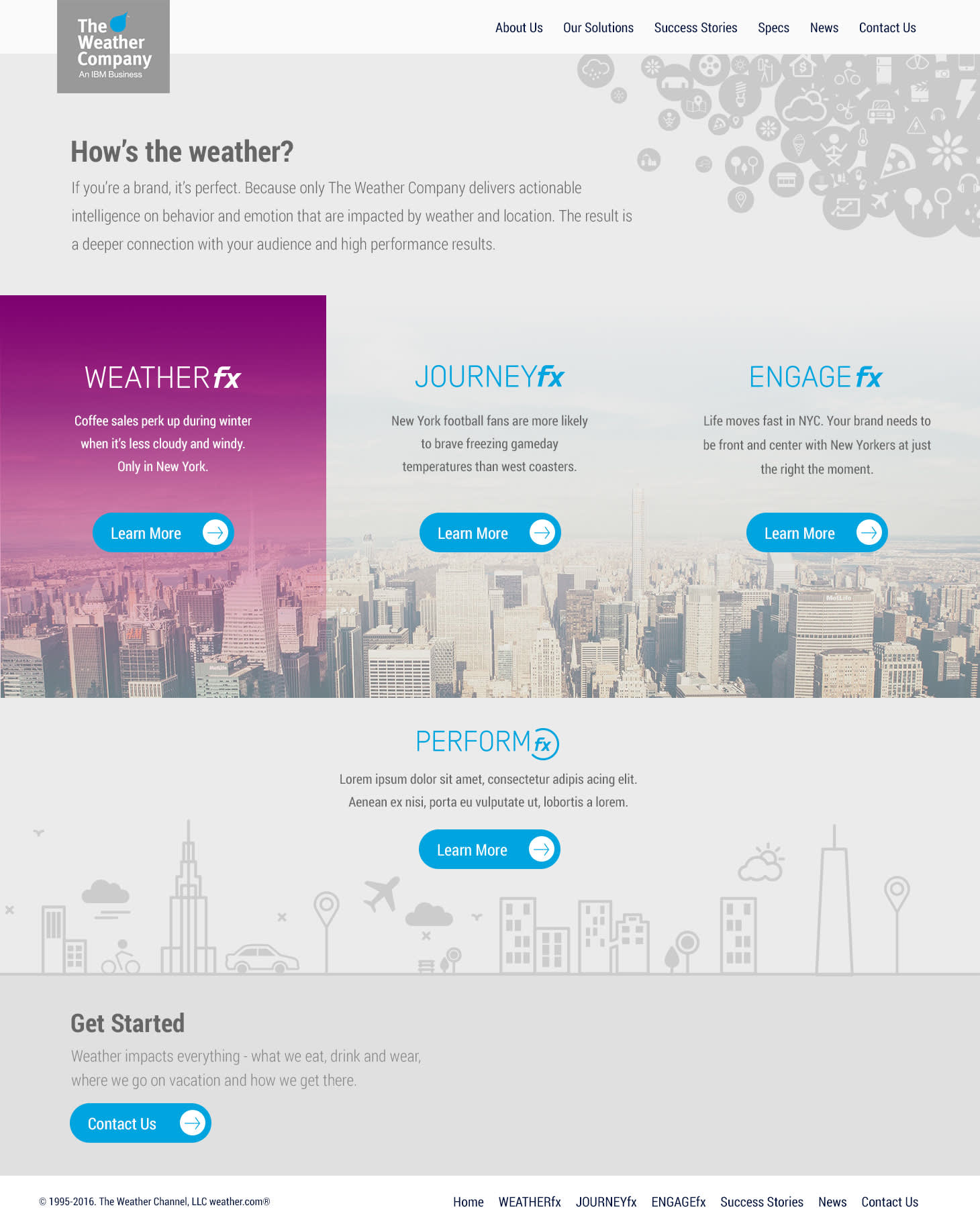The Weather Company: Media Kit Website