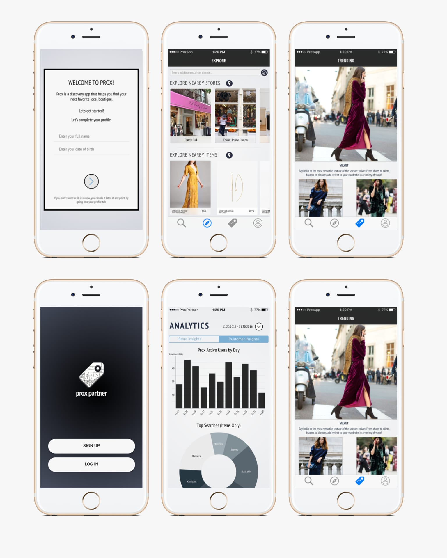 Prox - An App for Finding Your Favorite Local Boutique