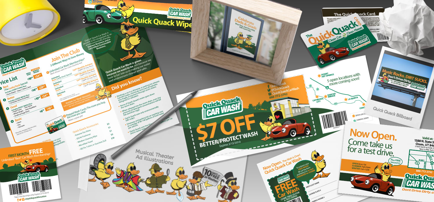 Extensive branding evolution over a span of more 10 years for a national car wash chain.