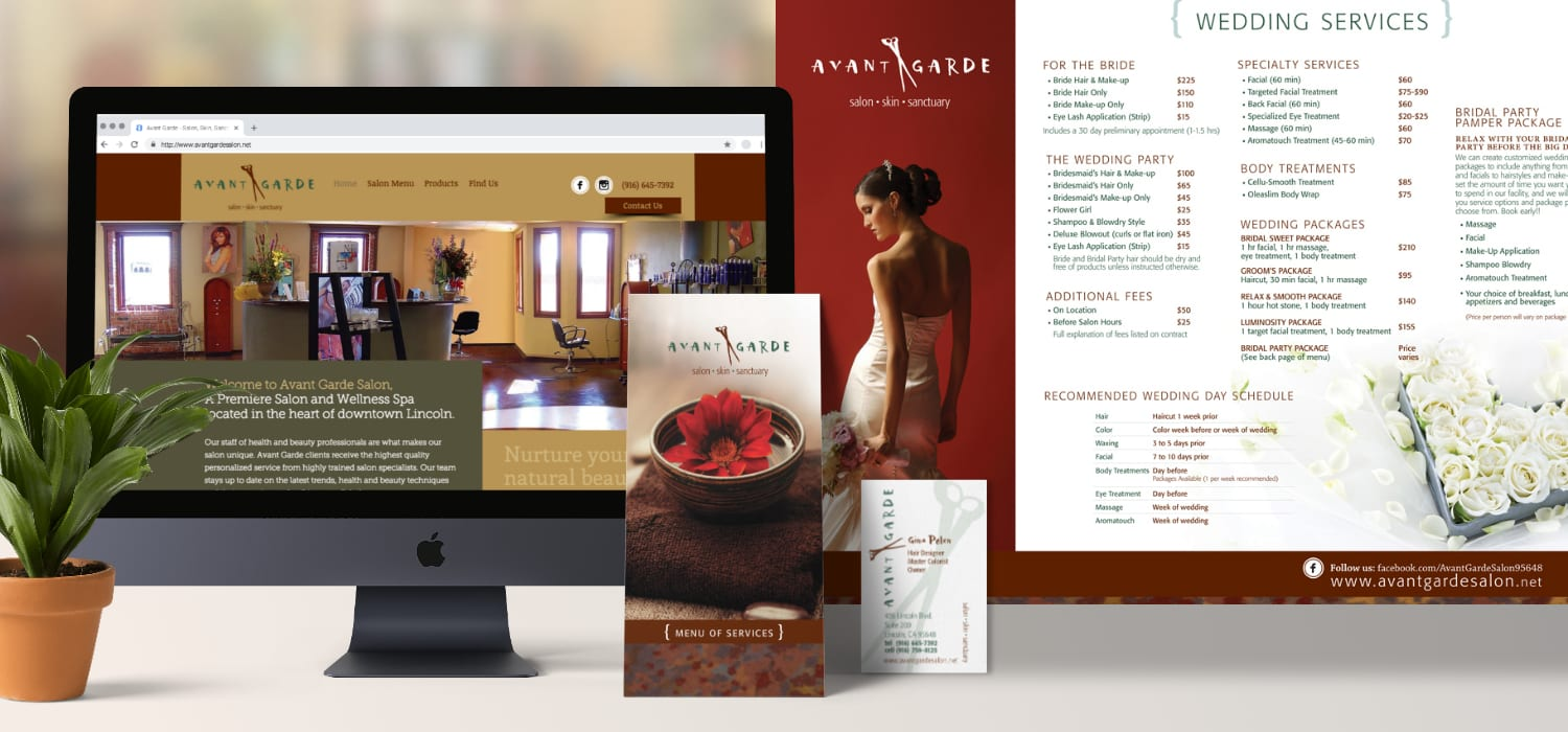 Branding and Identity for a local spa and salon