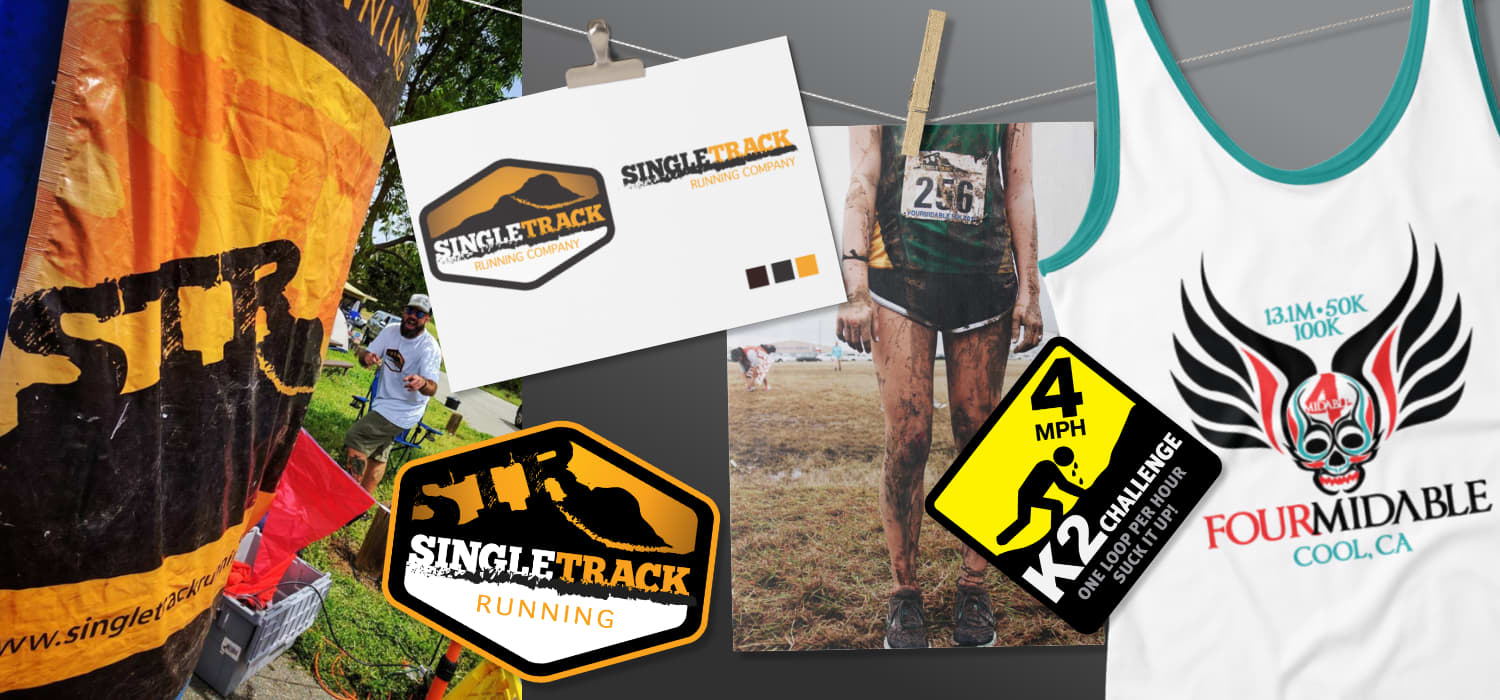 Branding/logo designs and development for a local race company