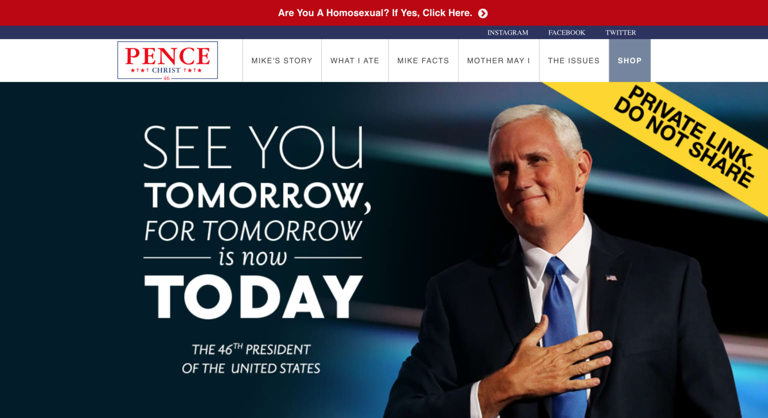 OfficialMikePence.com