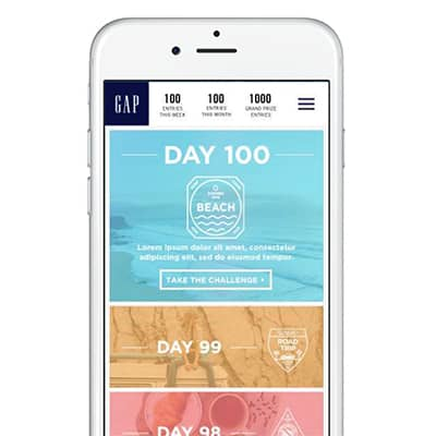 The Gap Mobile Promotional Site - 100 Days of Summer