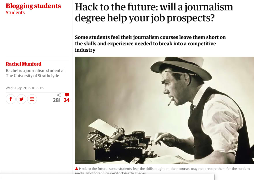 The Guardian - Blogging Students Article