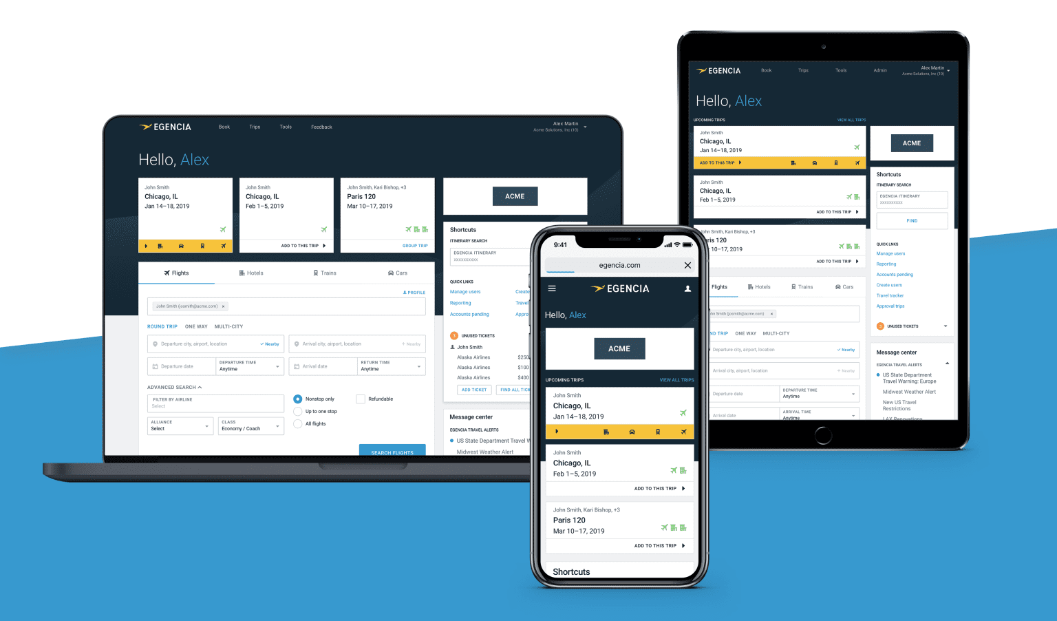 Egencia Homepage Product Vision