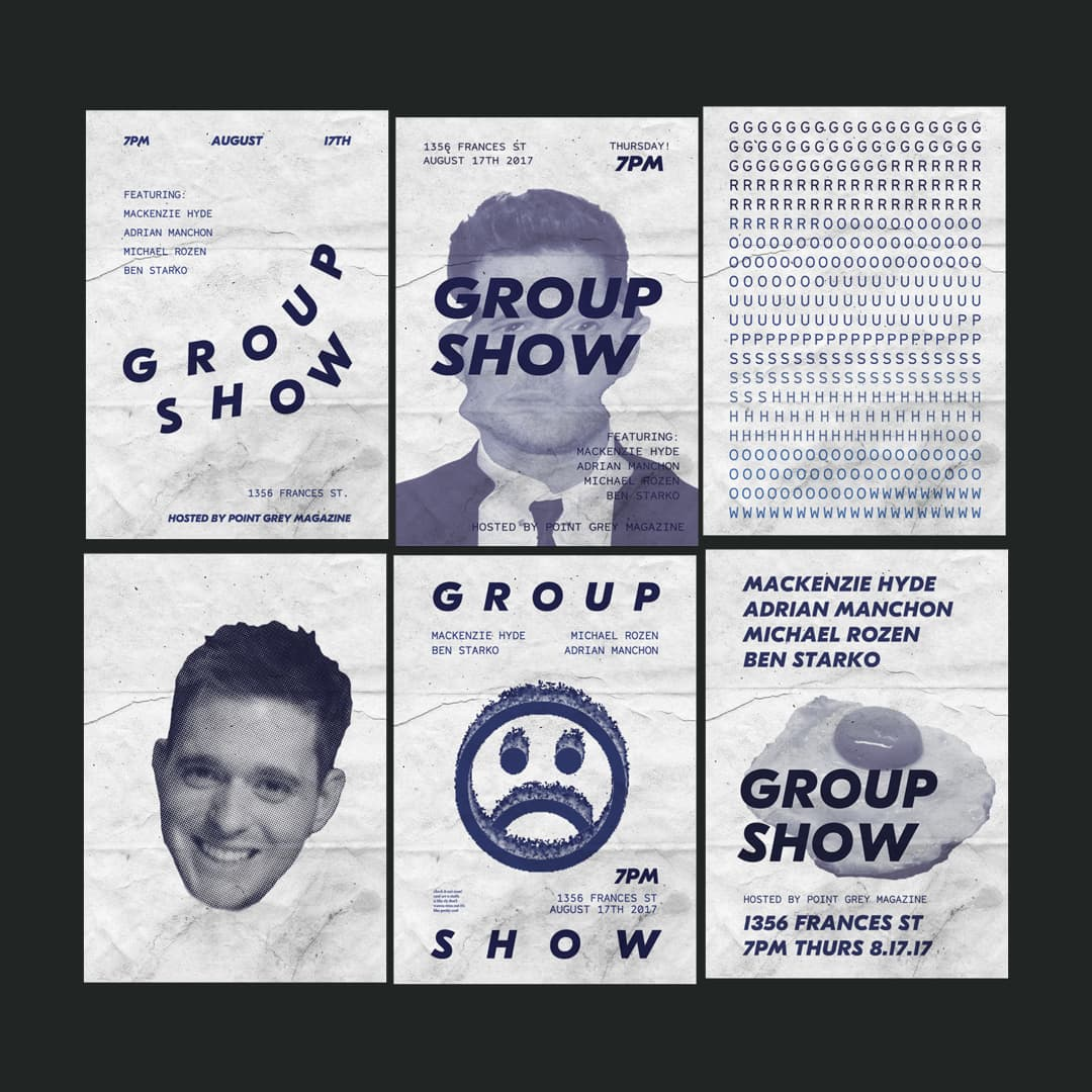 Group Show Poster Design