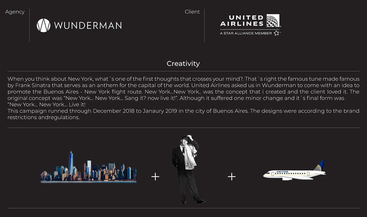 United Airlines Buenos Aires / New York - Design | Creativity