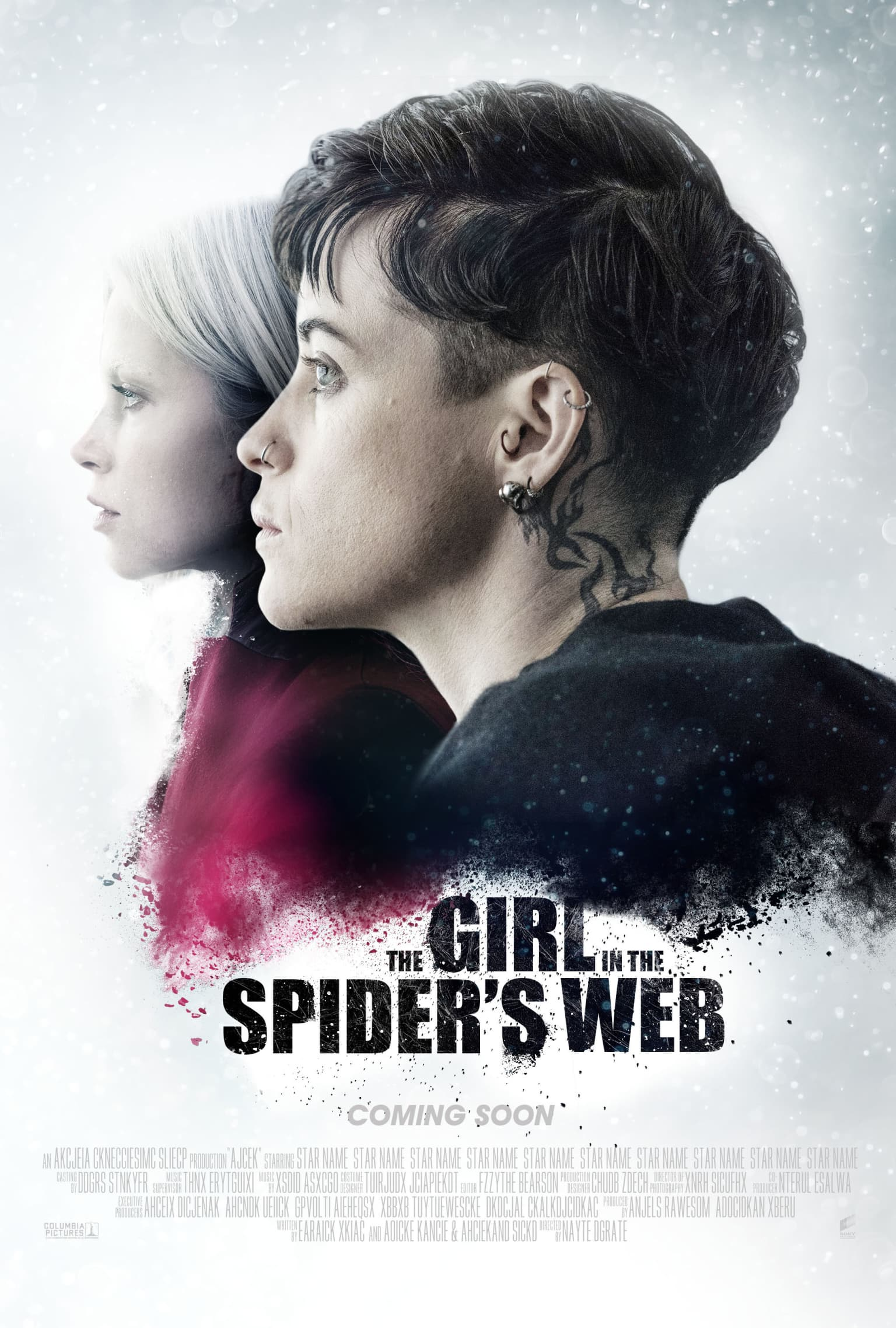 THE GIRL IN THE SPIDER'S WEB // Movie poster proposal