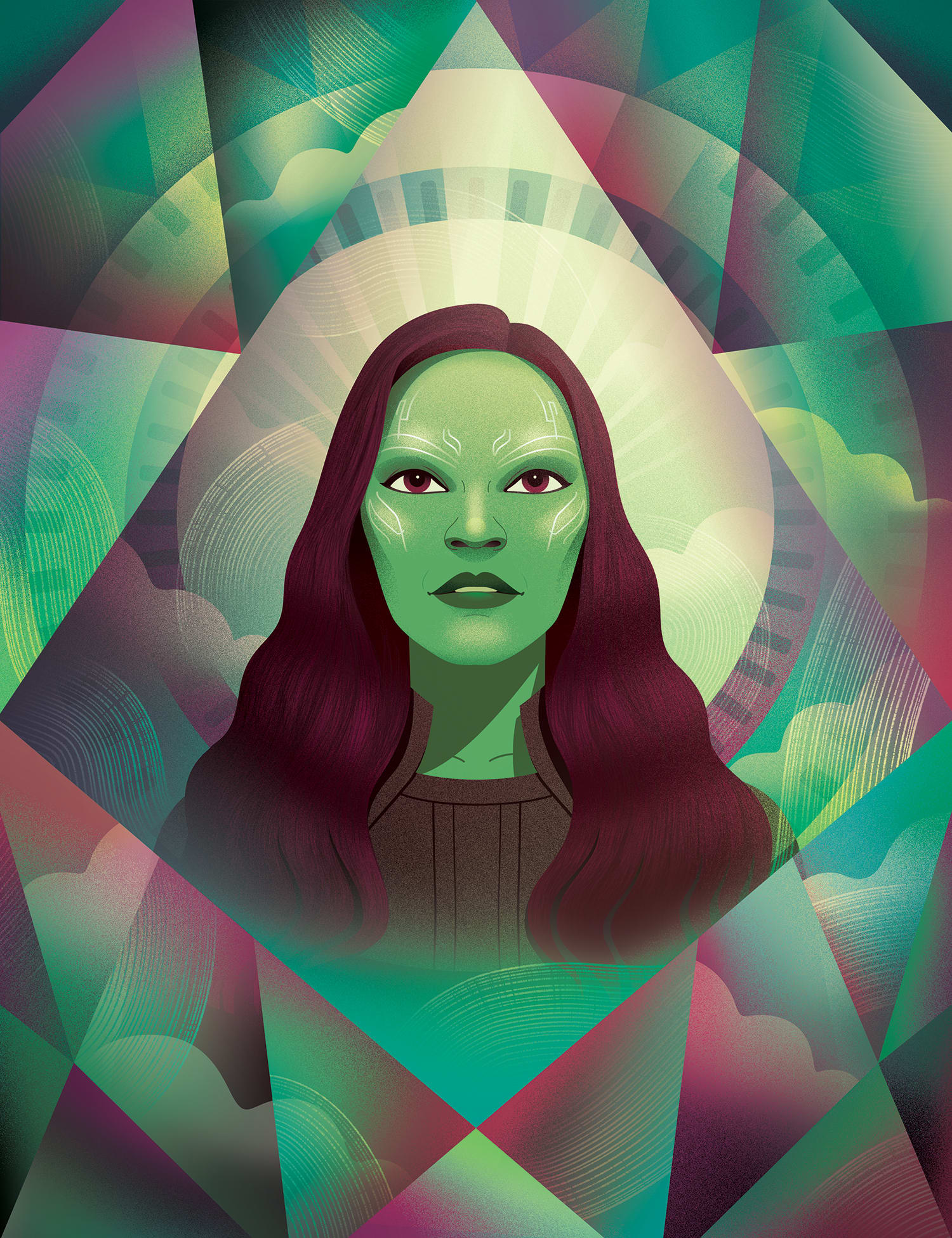 Gamora for the Avengers issue of 'Birth. Movies. Death' magazine