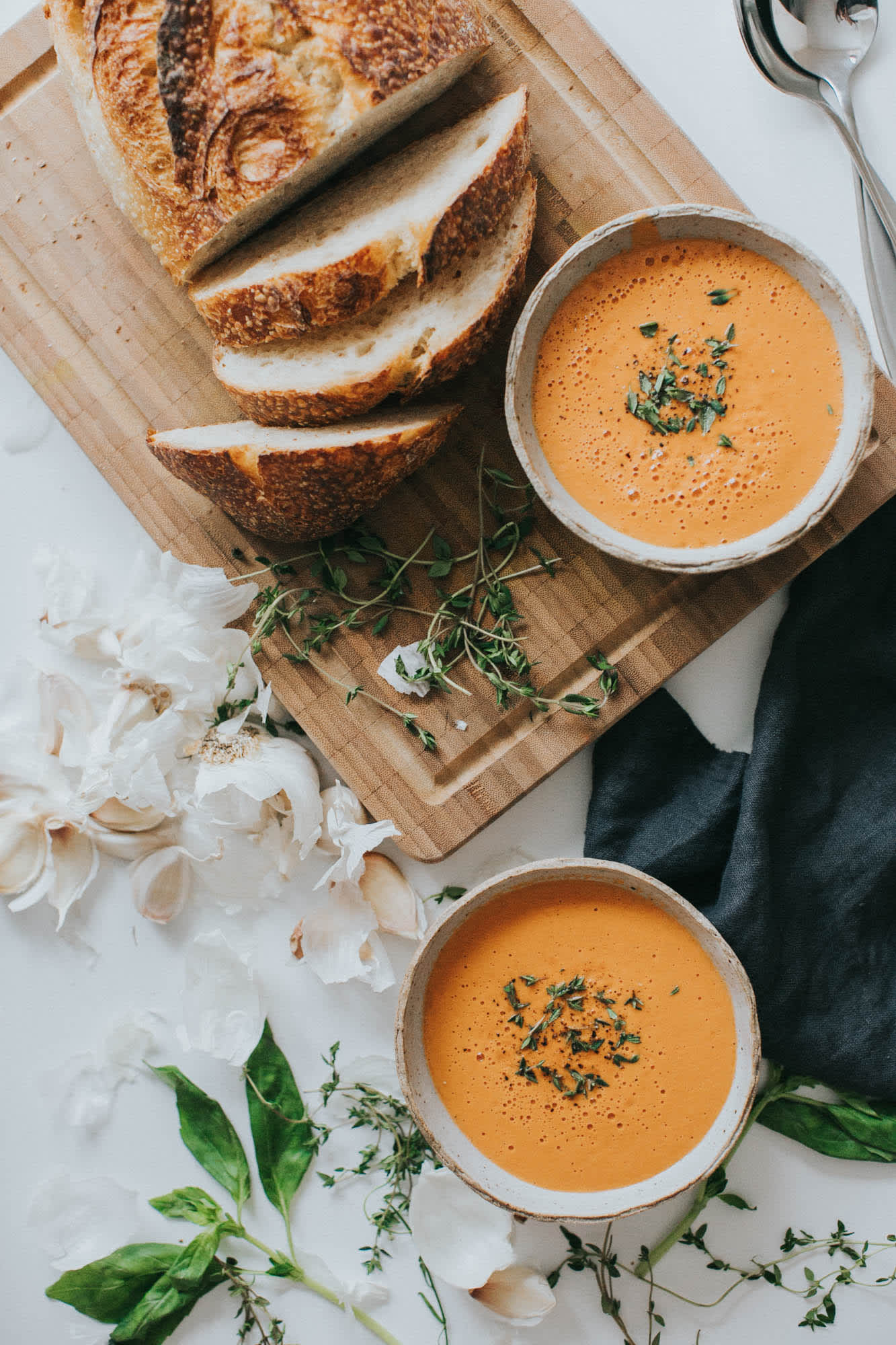 Vegan, Gluten-Free Creamy Tomato Soup in Under 20 Minutes