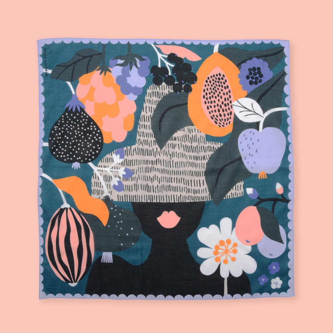 Illustrated handkerchiefs for Swimmie Japan