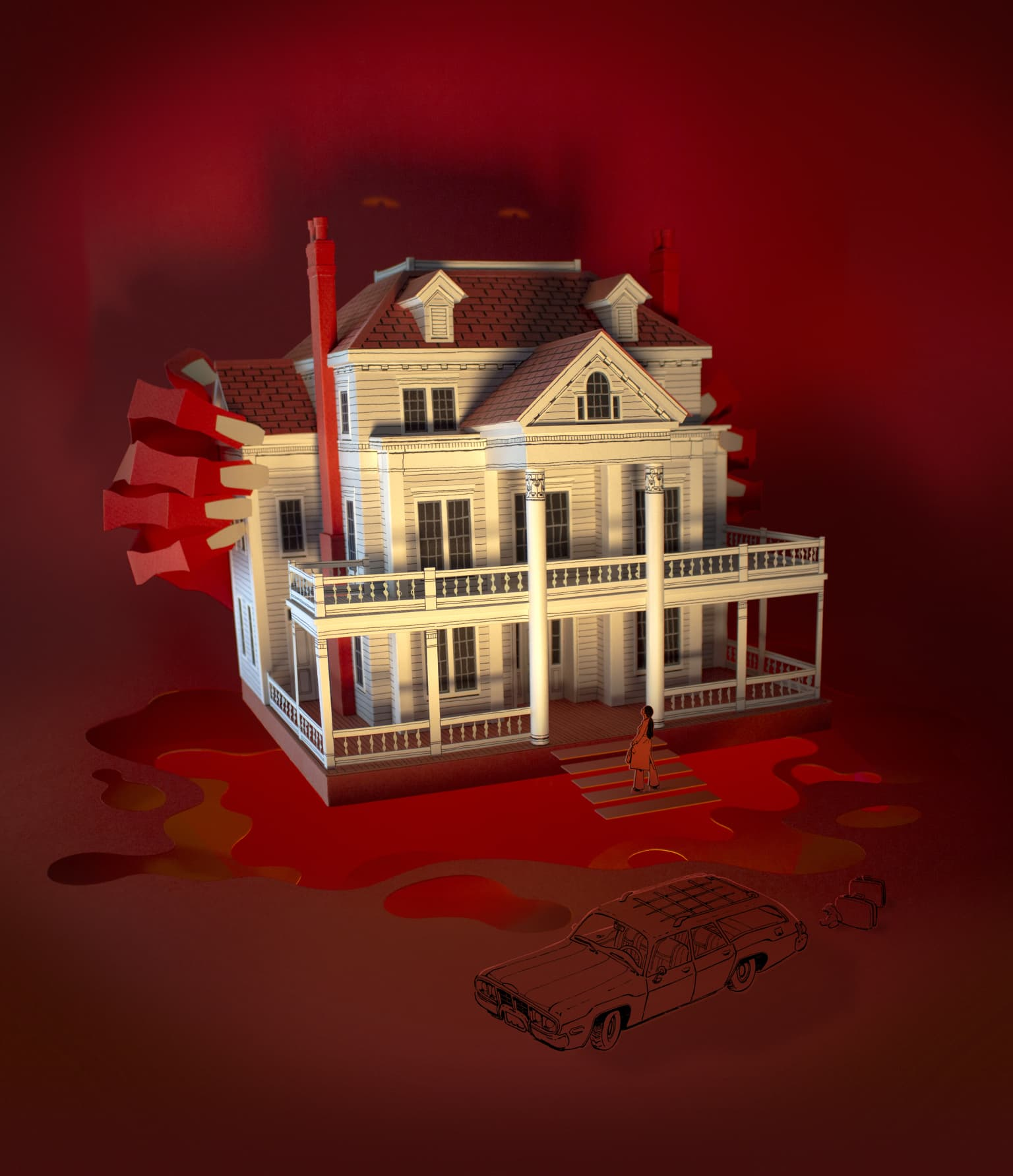 Haunted House Illustrations